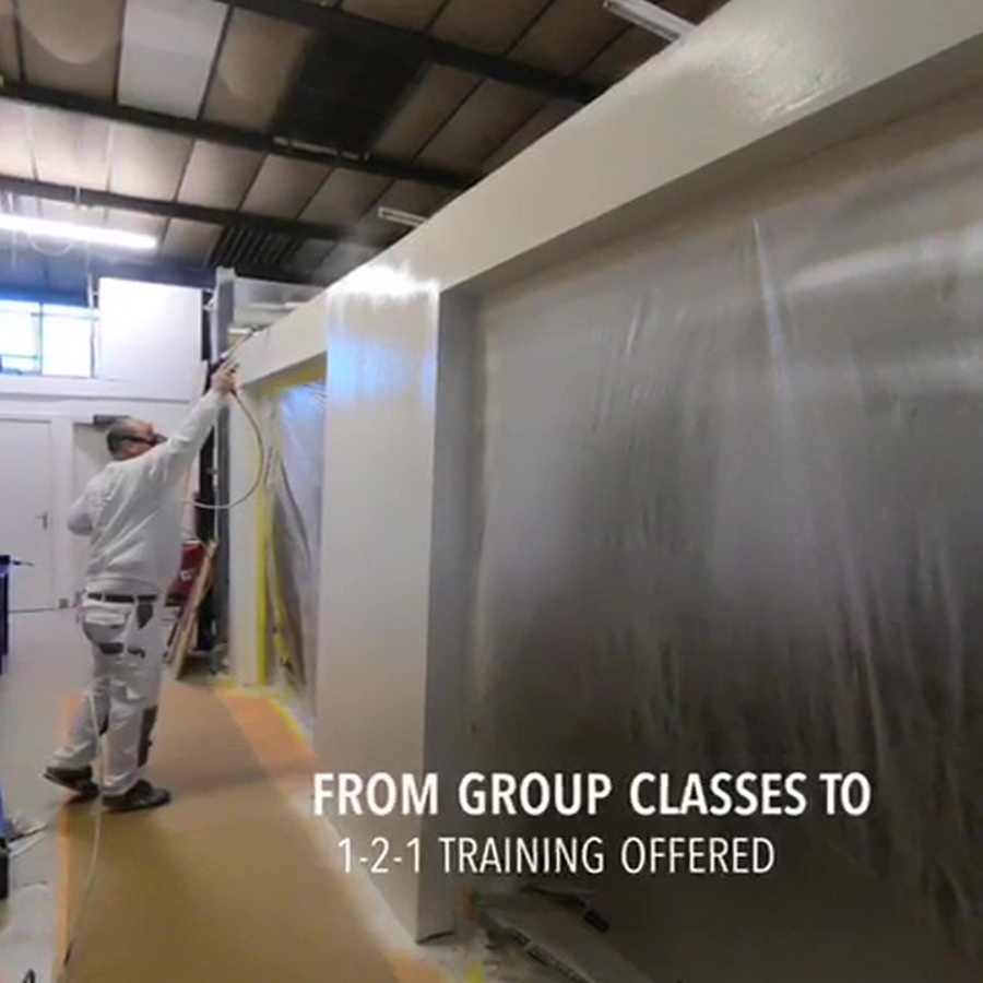 airless spray painting plaster courses picture